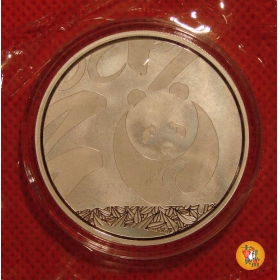 Shanghai Mint 2014 Panda lunar house plated silver China Medal
