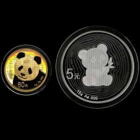 2017 Year Panda Gold Coins Issue 35th Anniversary Gold and Silve