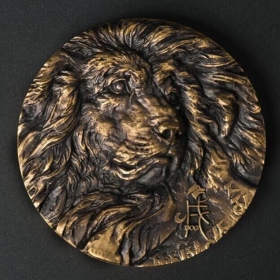 Shanghai mint 2018 dog 80mm Brass China Medal