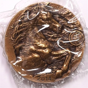Shanghai mintage 2014 Chinese Lunar horse 80mm China Coin Medal