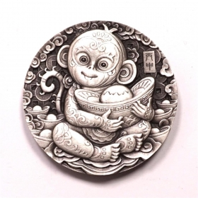Shenyang mint 2016 Chinese Lunar monkey 80g silver China Medal