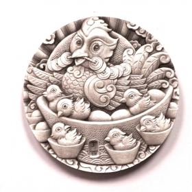 Shenyang mint 2017 Chinese Lunar Rooster 80g silver China Medal