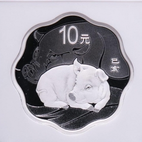 CGIC 2019 Lunar pig 30g plum silver China coin