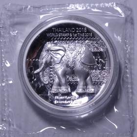 2018 Thailand world coin Expo 60g silver stamp China Coin Medal