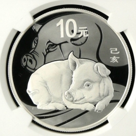 CGCI 2019 Lunar Pig 30g Proof Silver China Coin