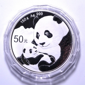 CGCI 2019 panda 150g silver Proof China coin