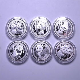 Nanjing mint 2017 35th issuance panda coin 20g*6 silver Medal