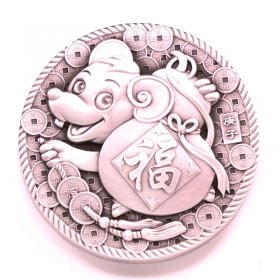 Shenyang Mint 2020 lunar mouse 45mm 80g silver China coin medal