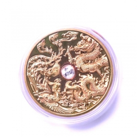 2016 Nanjing mint China culture luck 45mm tri-metal coin medal
