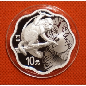 2016 Lunar monkey Cinquefoil 1oz silver china coin