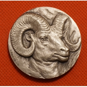 Shanghai Mint 2015 Lunar Lead sheep head 80g Silver China coin