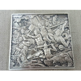 Central Academy of fine arts battle of Zhuolu 200g silver medal