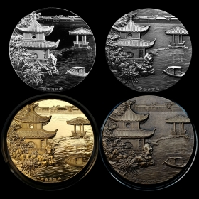 2017 Chinese classical water garden medals set